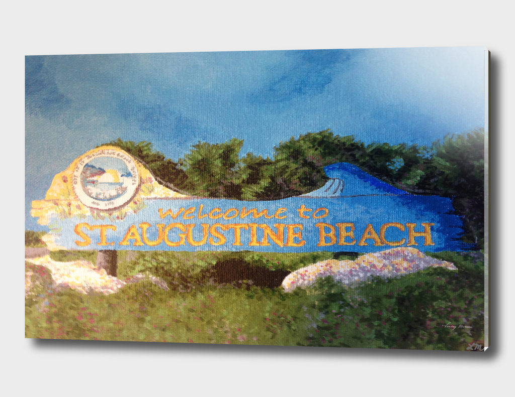 St. Augustine Beach Sign