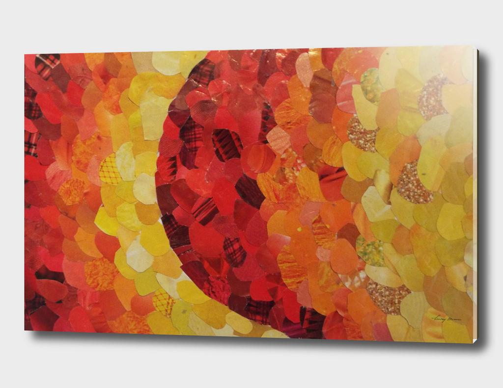 Red/Yellow Gradient Magazine Collage