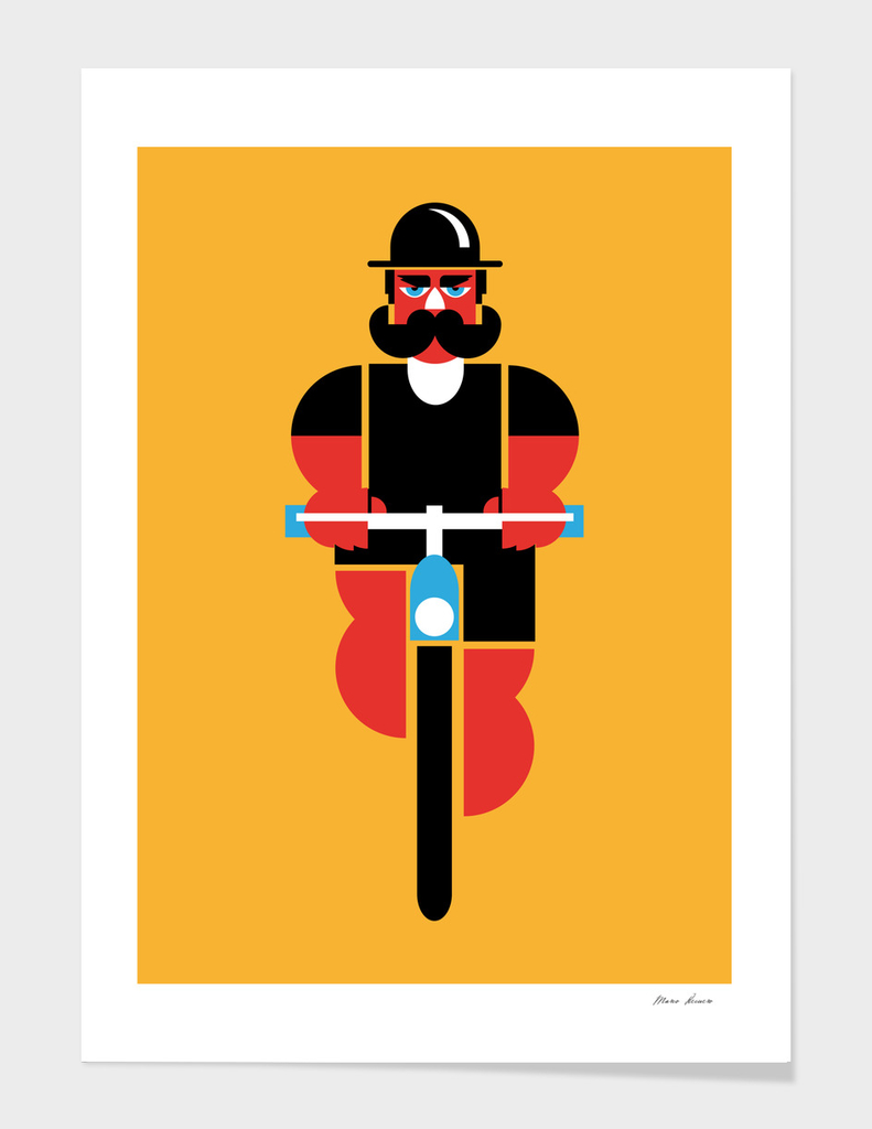 Bike and mustache