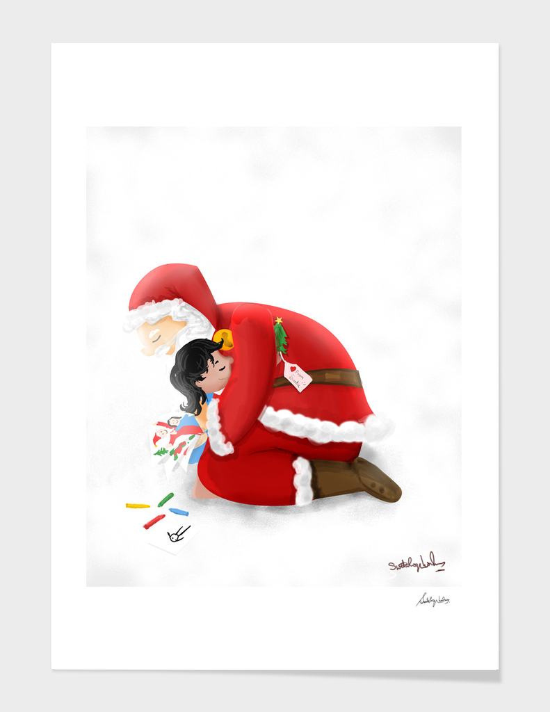 A warm hug from Santa