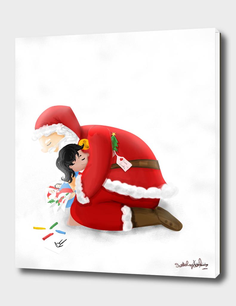 A warm hug from Santa