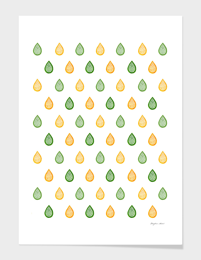 Yellow & green droplets