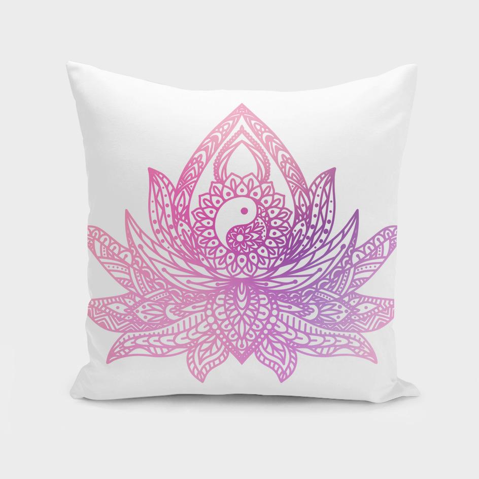 Watercolor Yin Yang Lotus