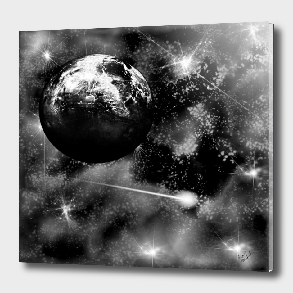 Alien world black and grey