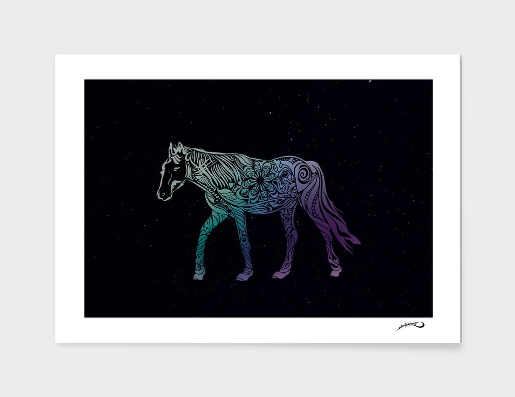 Dark night horse riding by #Bizzartino