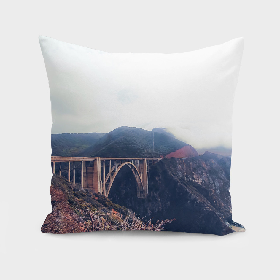 Bixby bridge, California, USA with mountain view