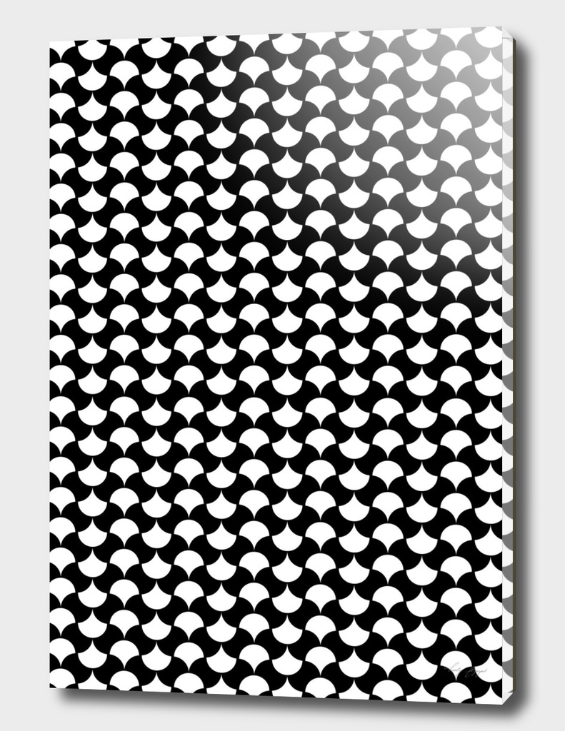 Black White  Petals Pattern