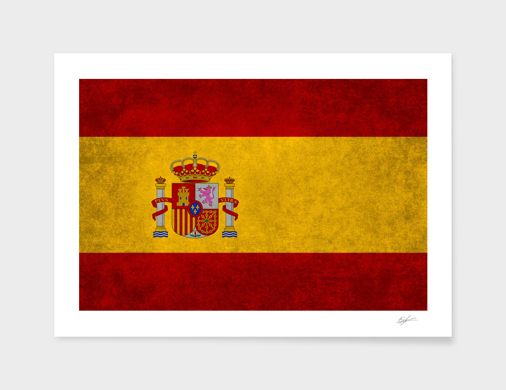 Flag of Spain retro style