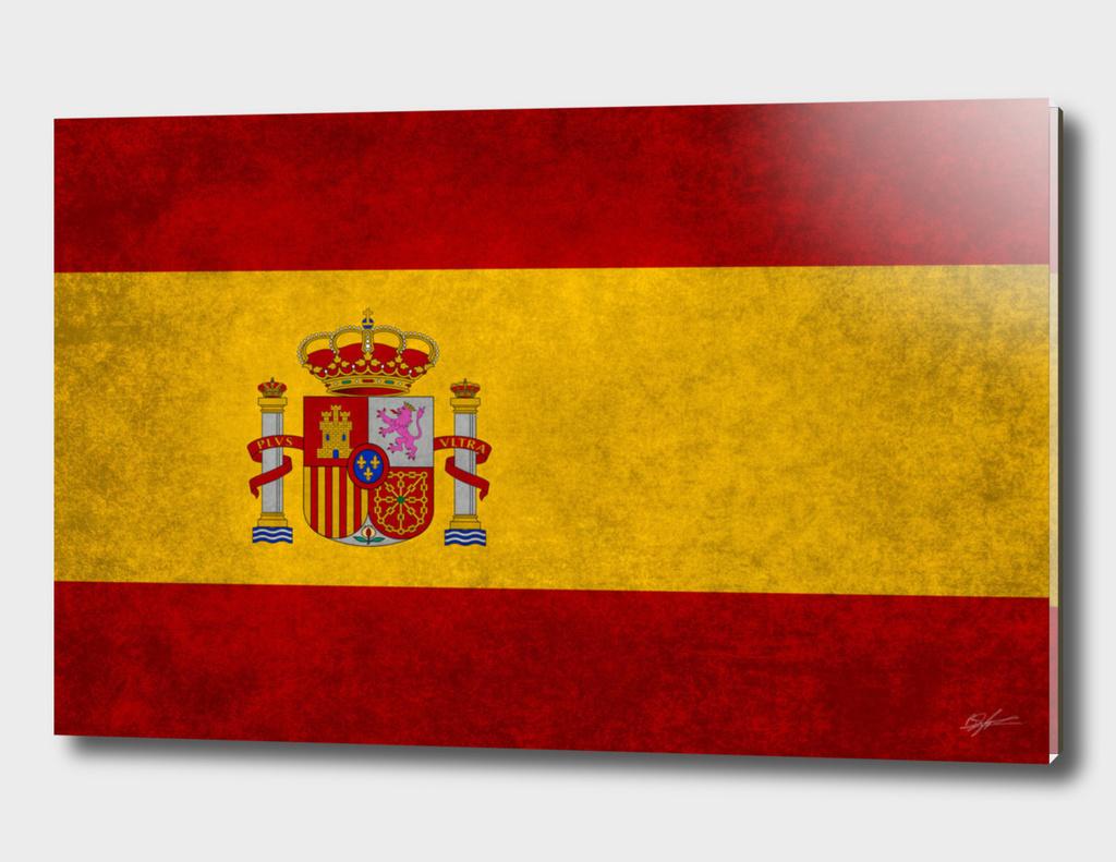 Flag of Spain retro style