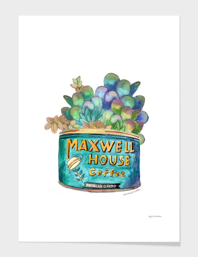Maxwell House Succulent Print