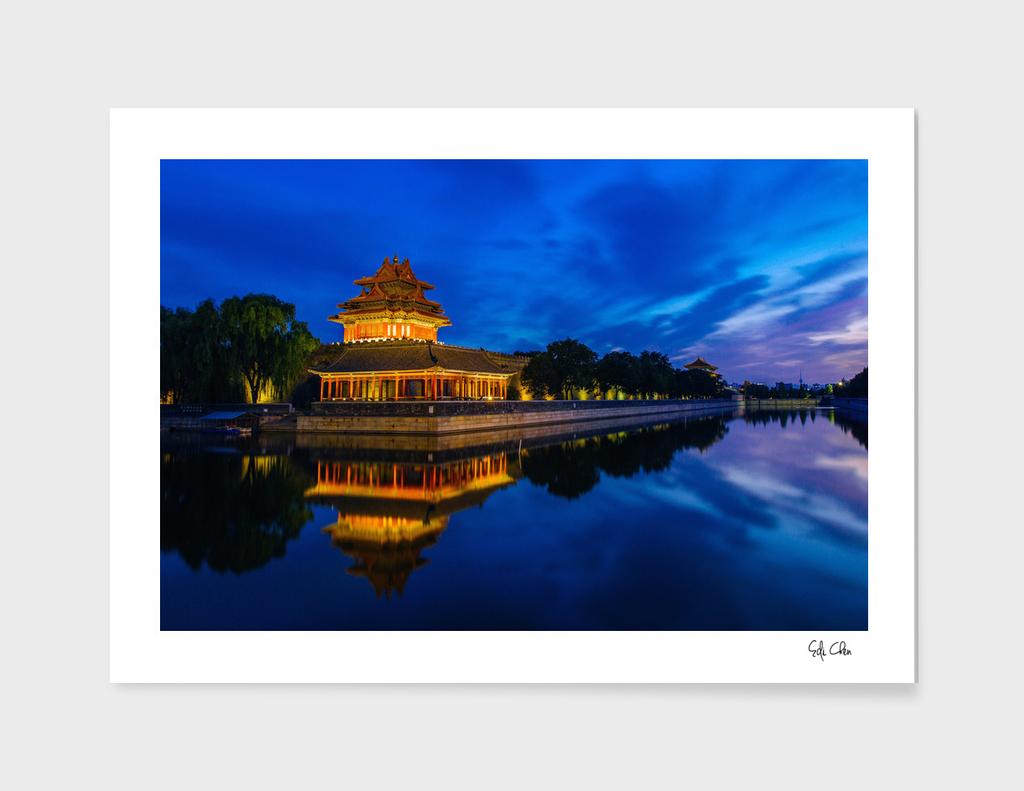 Forbidden City Moat, Corner Towers, Beijing, China