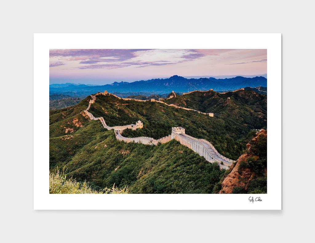 Sunrise at Jinshanling Great Wall of China