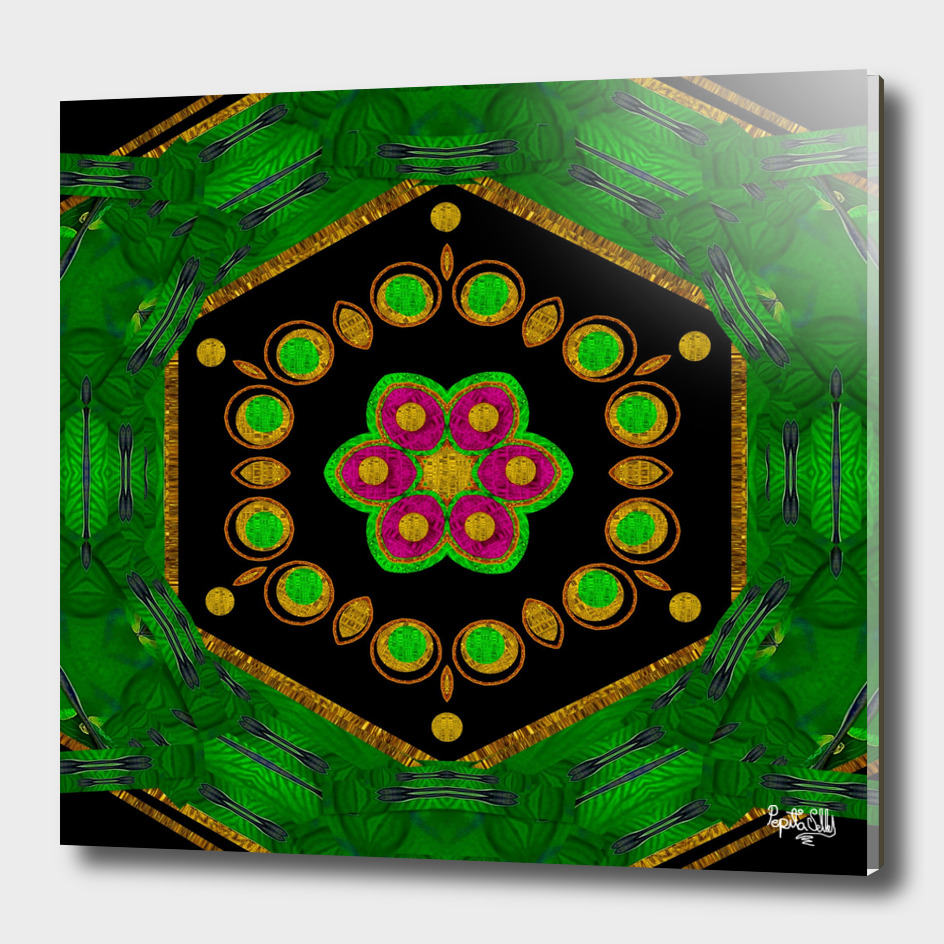 Magic of life a Orchid Mandala so bright