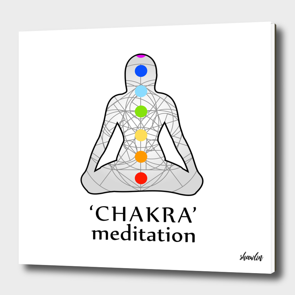 Chakra meditation with respective colors