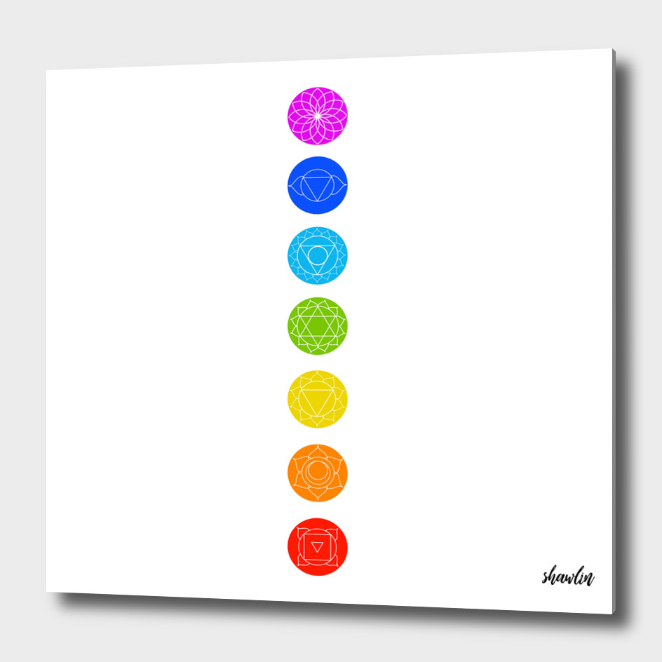 Chakra icons with respective colors