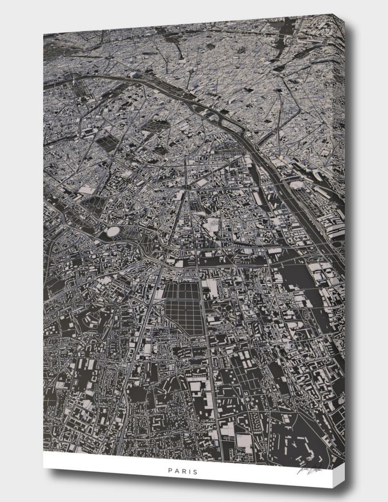 Paris city map