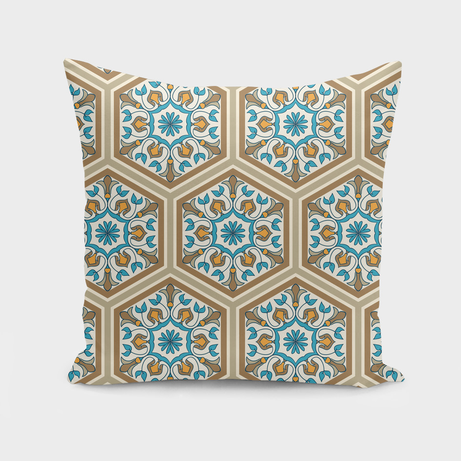 Eastern moroccan ornament with hexagon elements