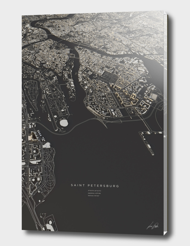 Saint Petersburg city map