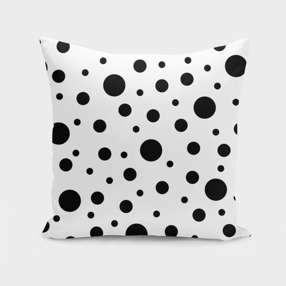 Black on White Polka Dot Pattern
