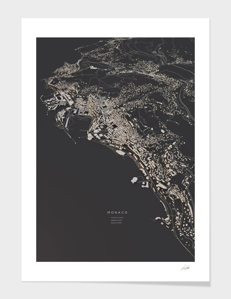 Monaco city map