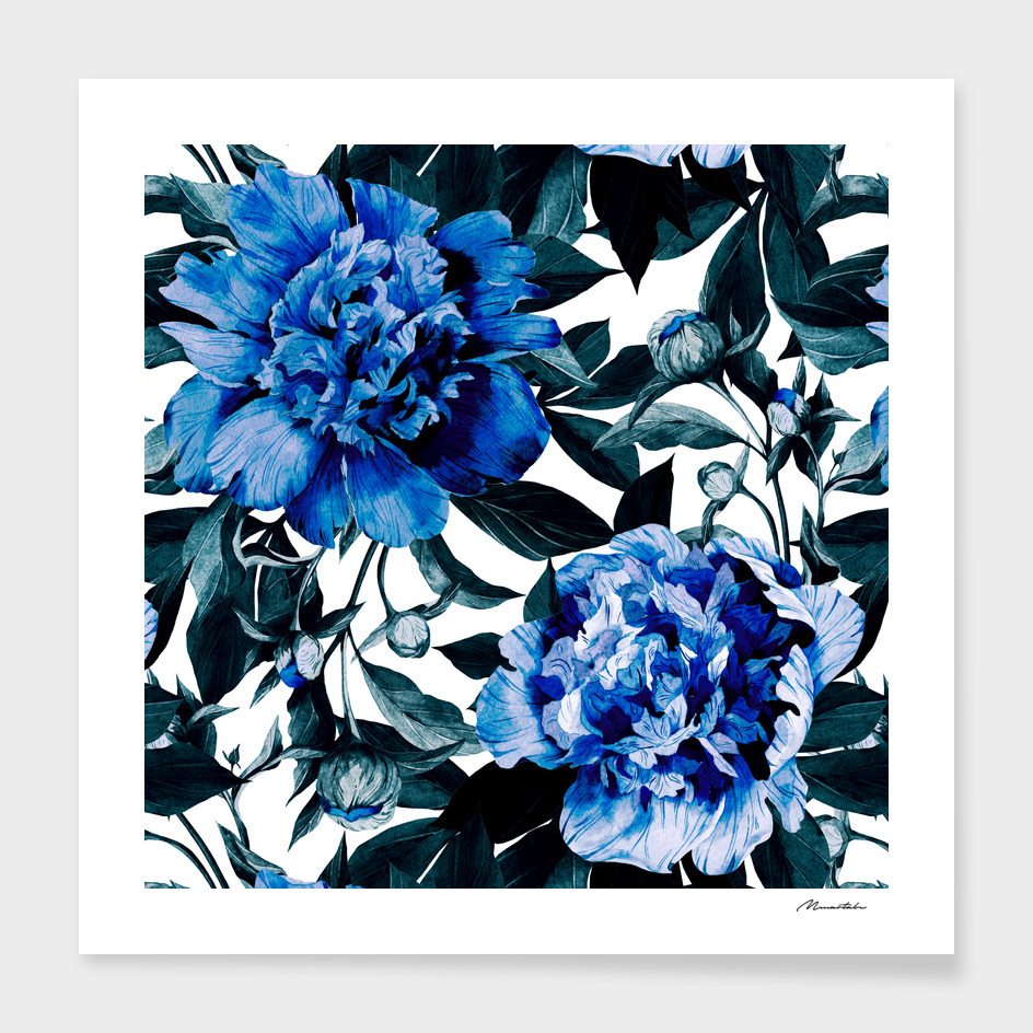 Indigo blue flowers