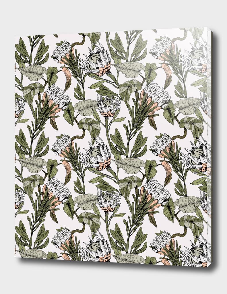 Pattern botanical boho
