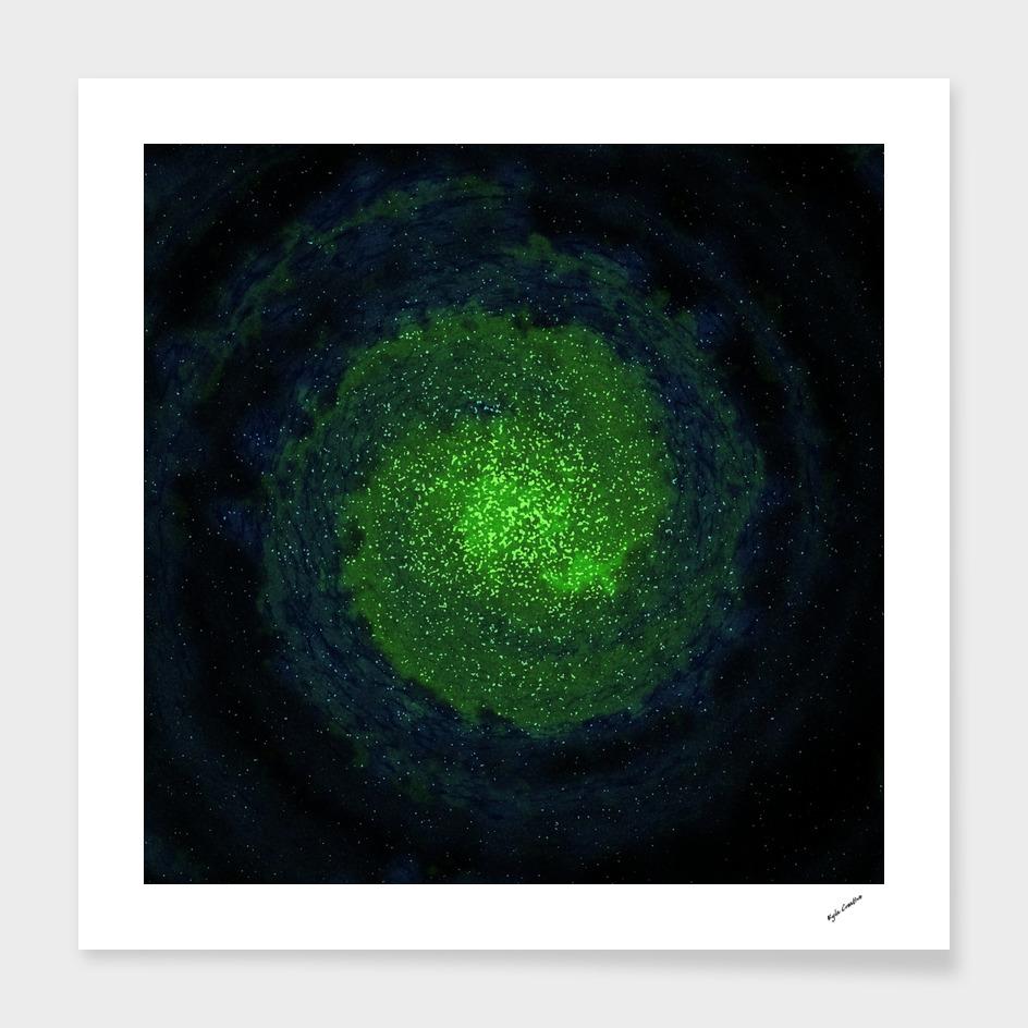 green blue galaxy