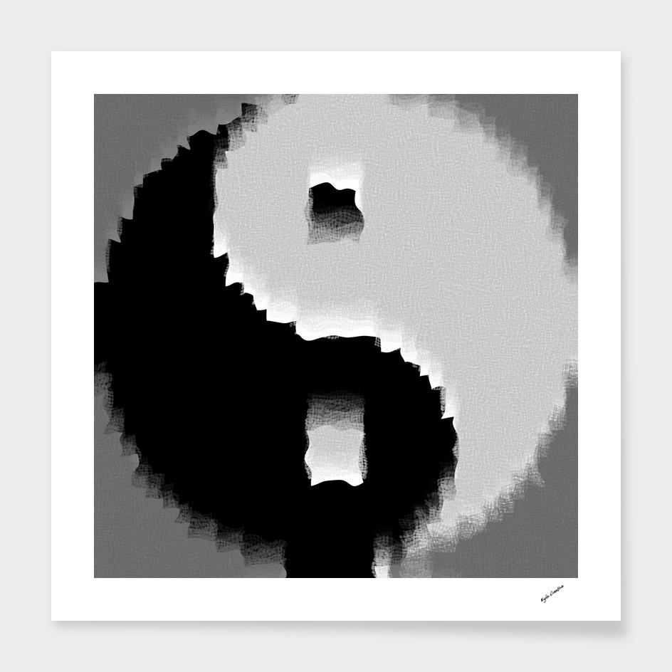 grunge yin yang