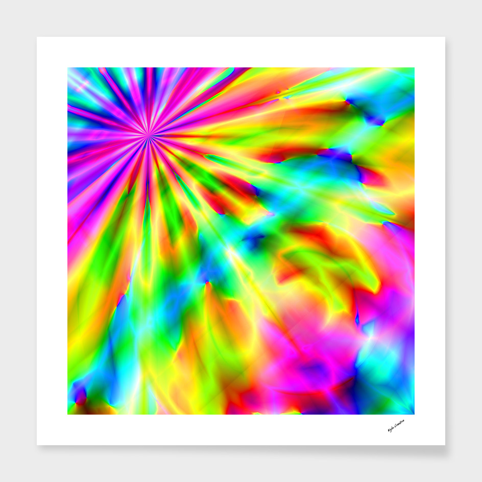 rainbow tyedye