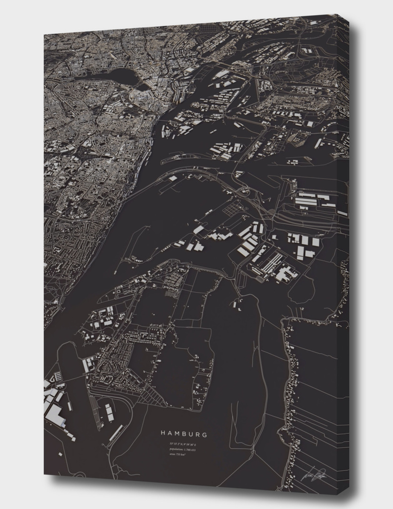 Hamburg 3D city map