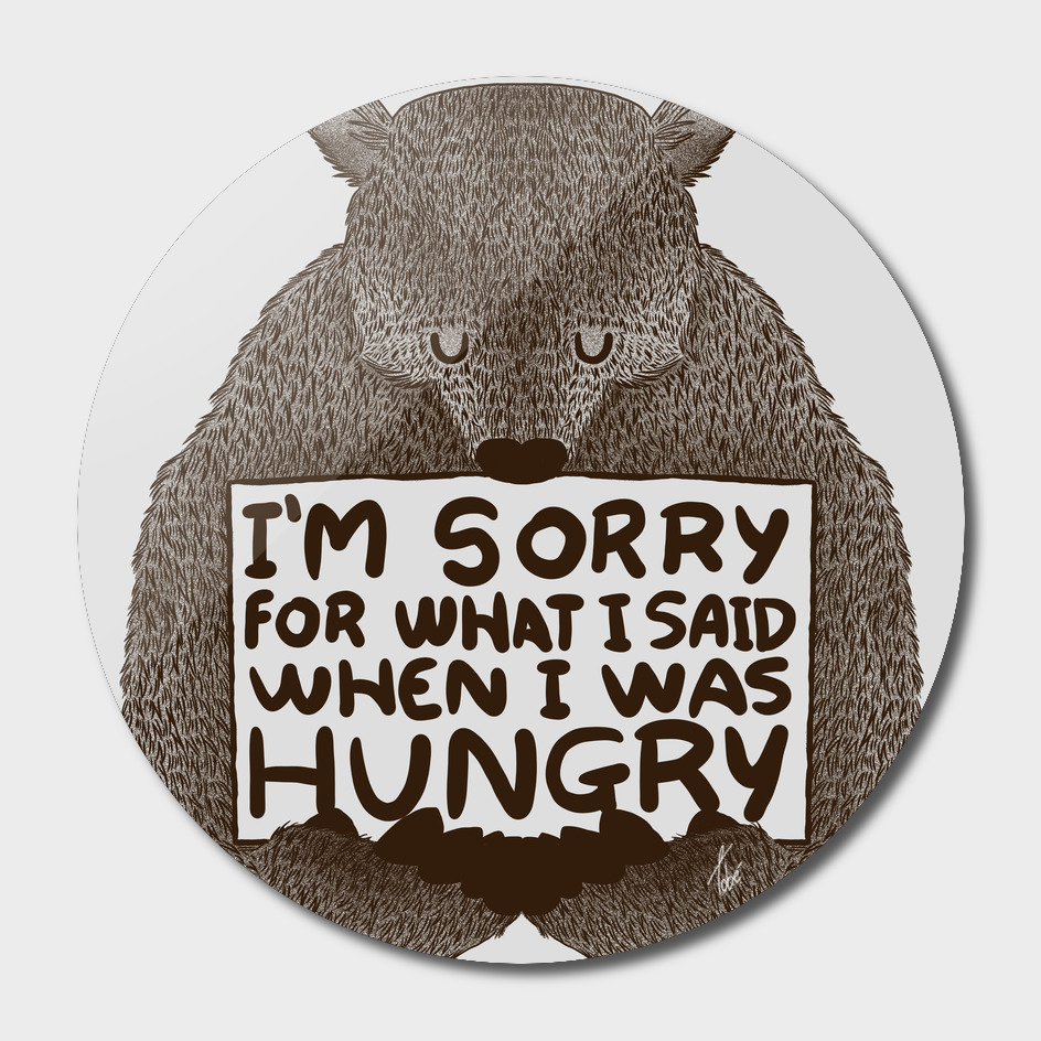 Im sorry for what i said when i was hungry copy