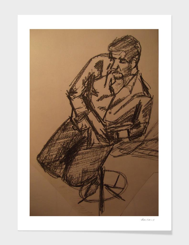 Man posture study