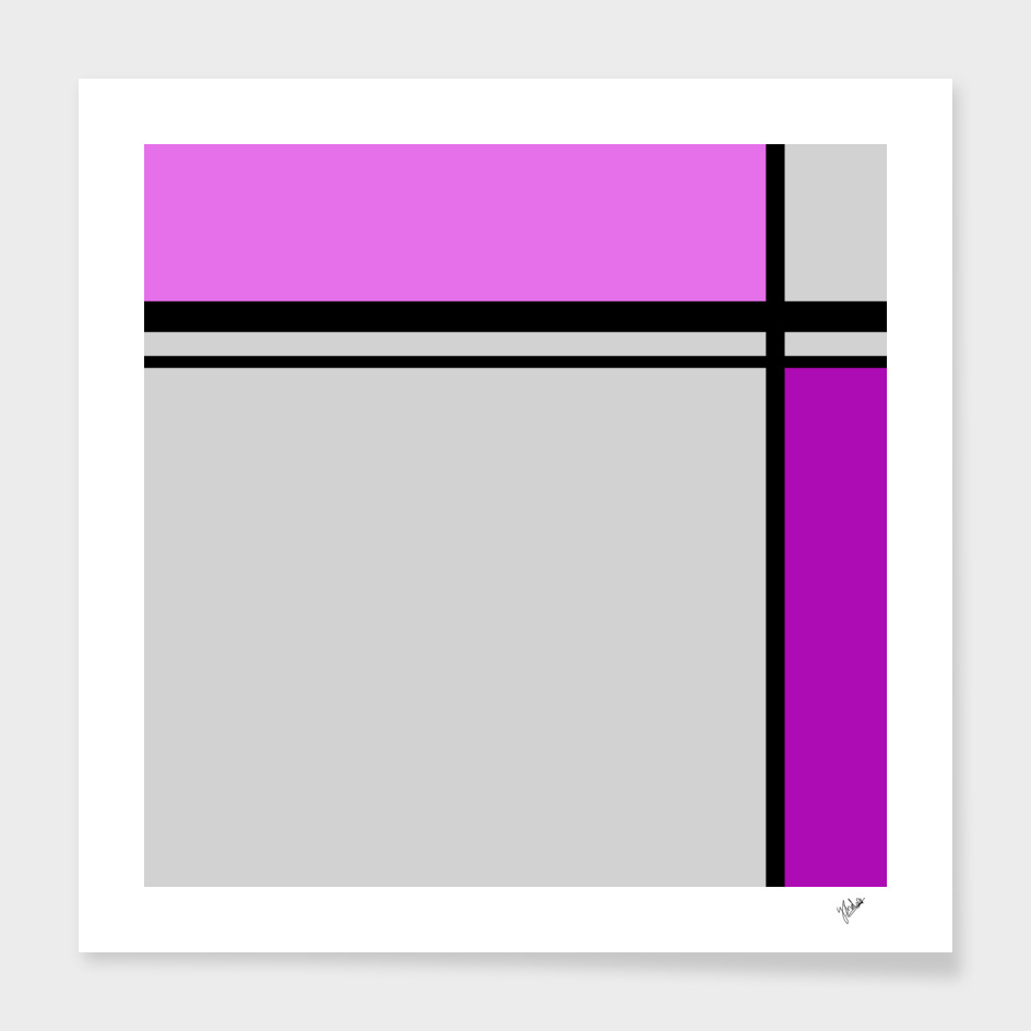 Cross Lines pink/purple