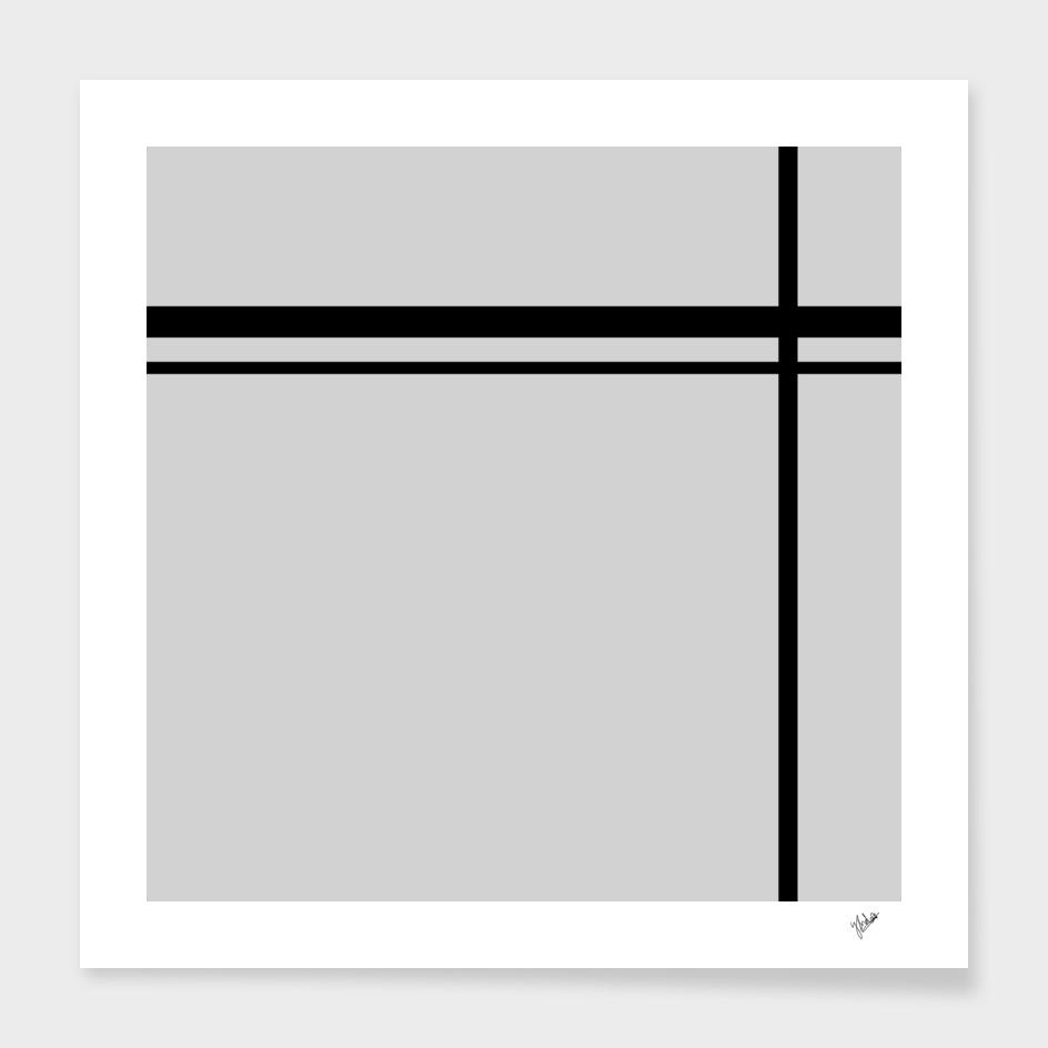 Cross Lines in gray