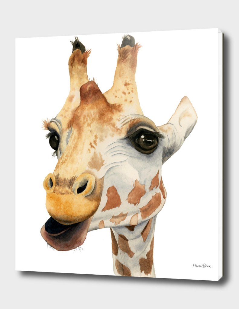 Chew - Giraffe Watercolor Painting