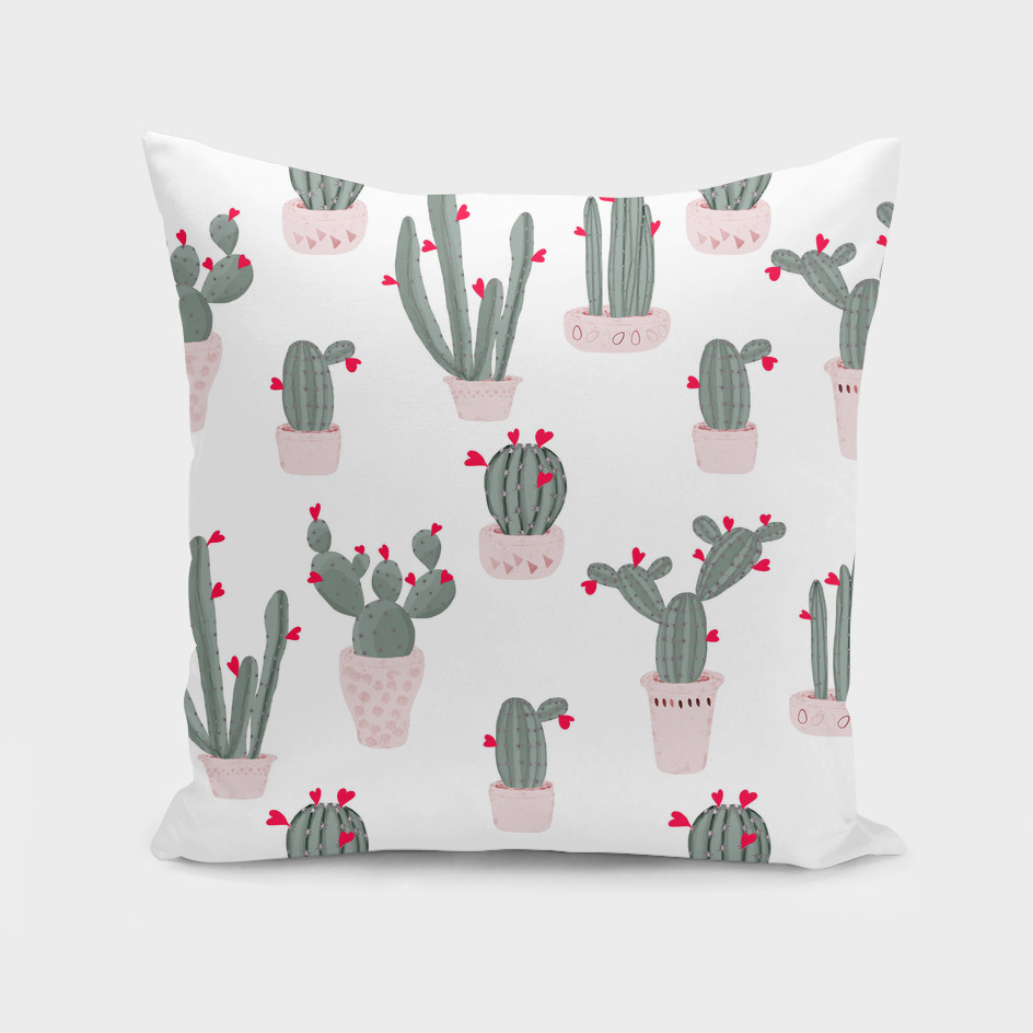 Love in the Desert Cacti Pattern