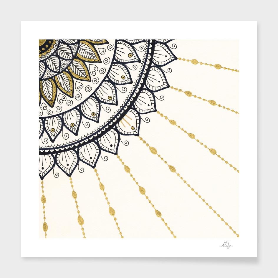 Mandala - Gold and Black