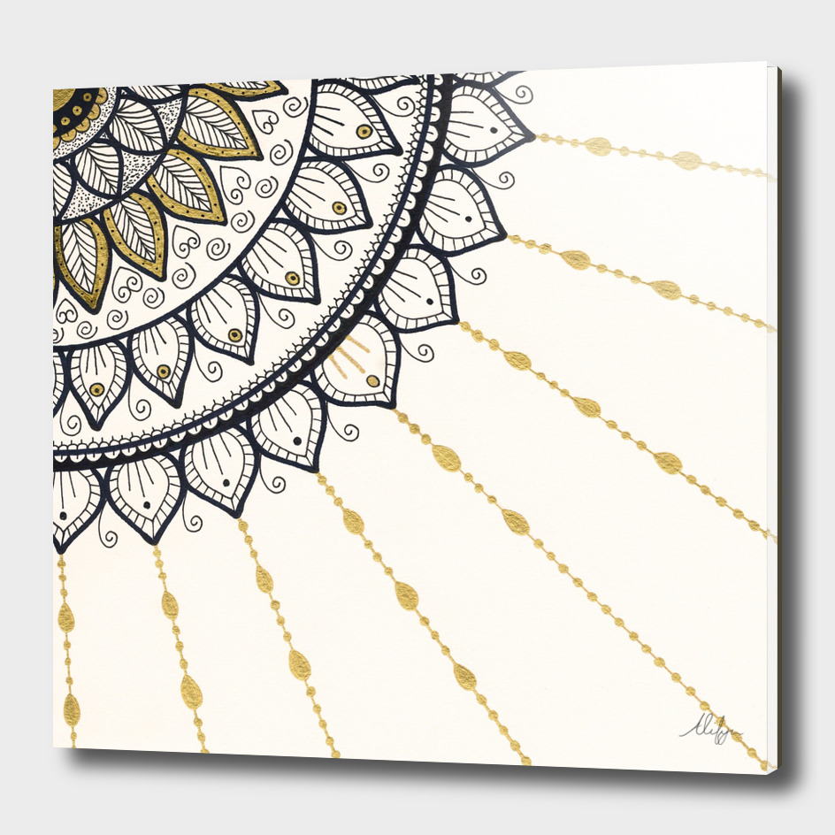 Mandala - Gold and Black
