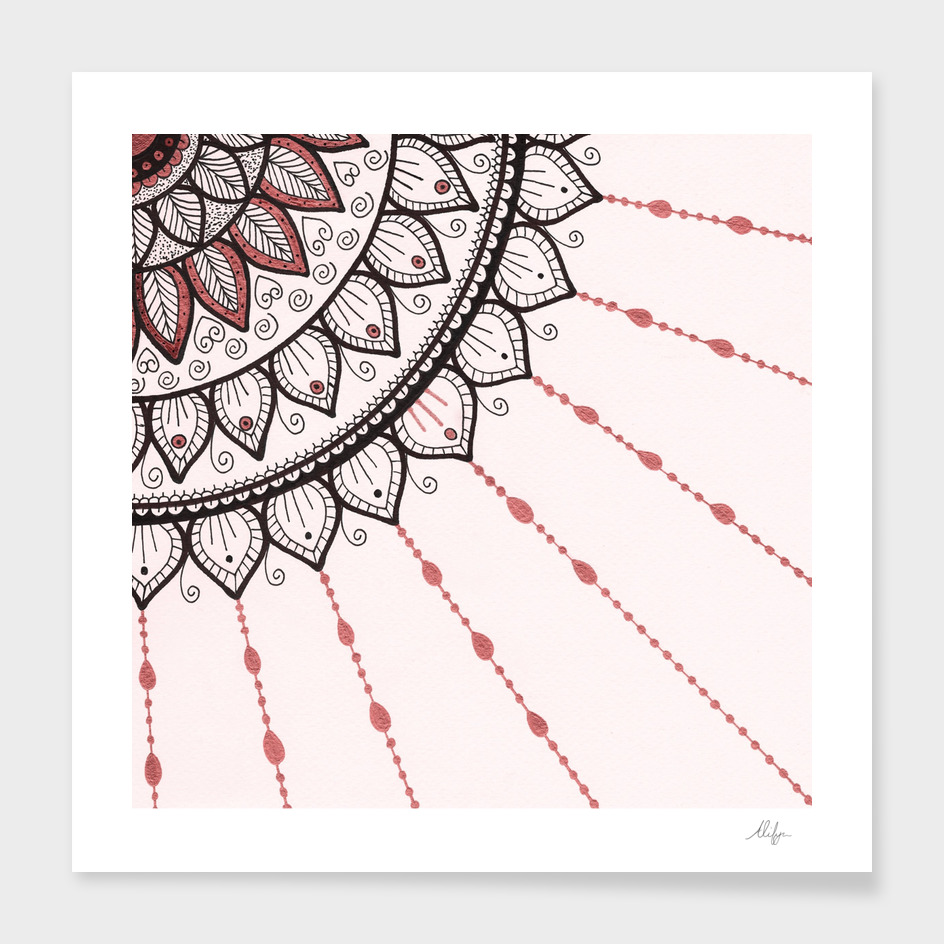 Mandala - Pink and Black