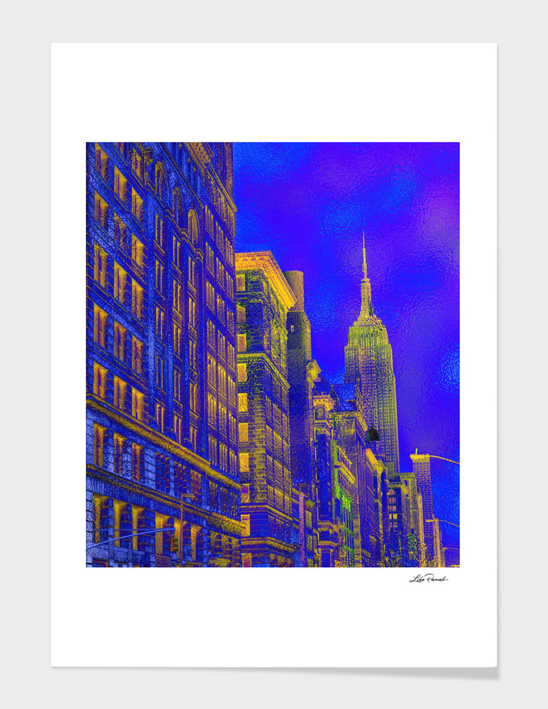 New York in Blue  by Lika Ramati