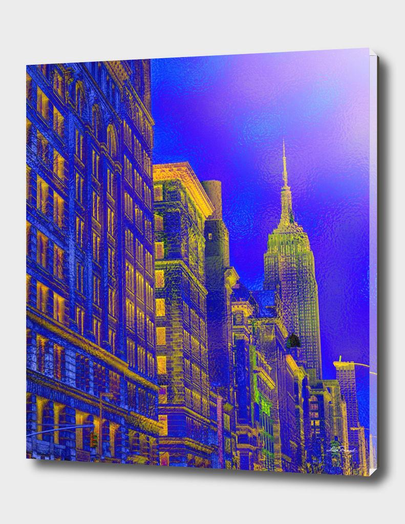 New York in Blue  by Lika Ramati