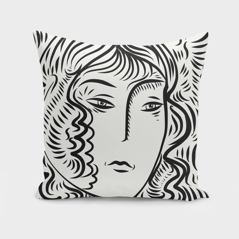 Graphic Black and White Portrait