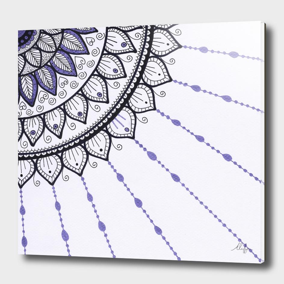 Mandala - Purple and Black
