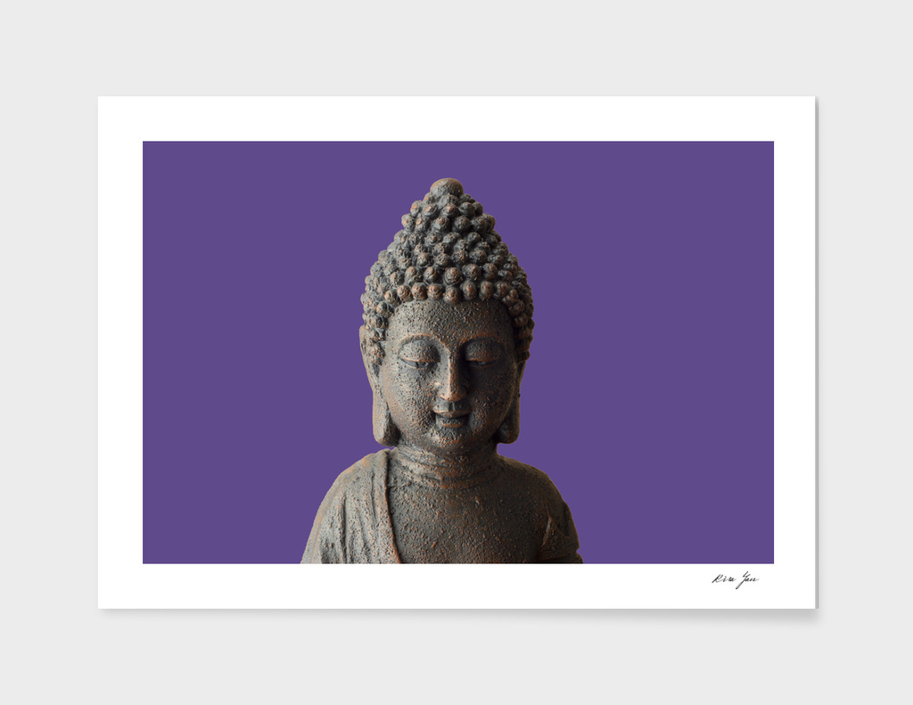 Buddha face Ultra Violet