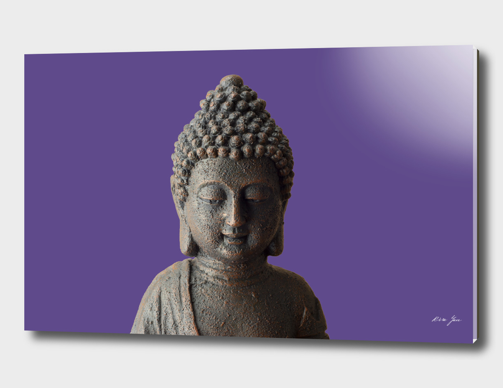 Buddha face Ultra Violet