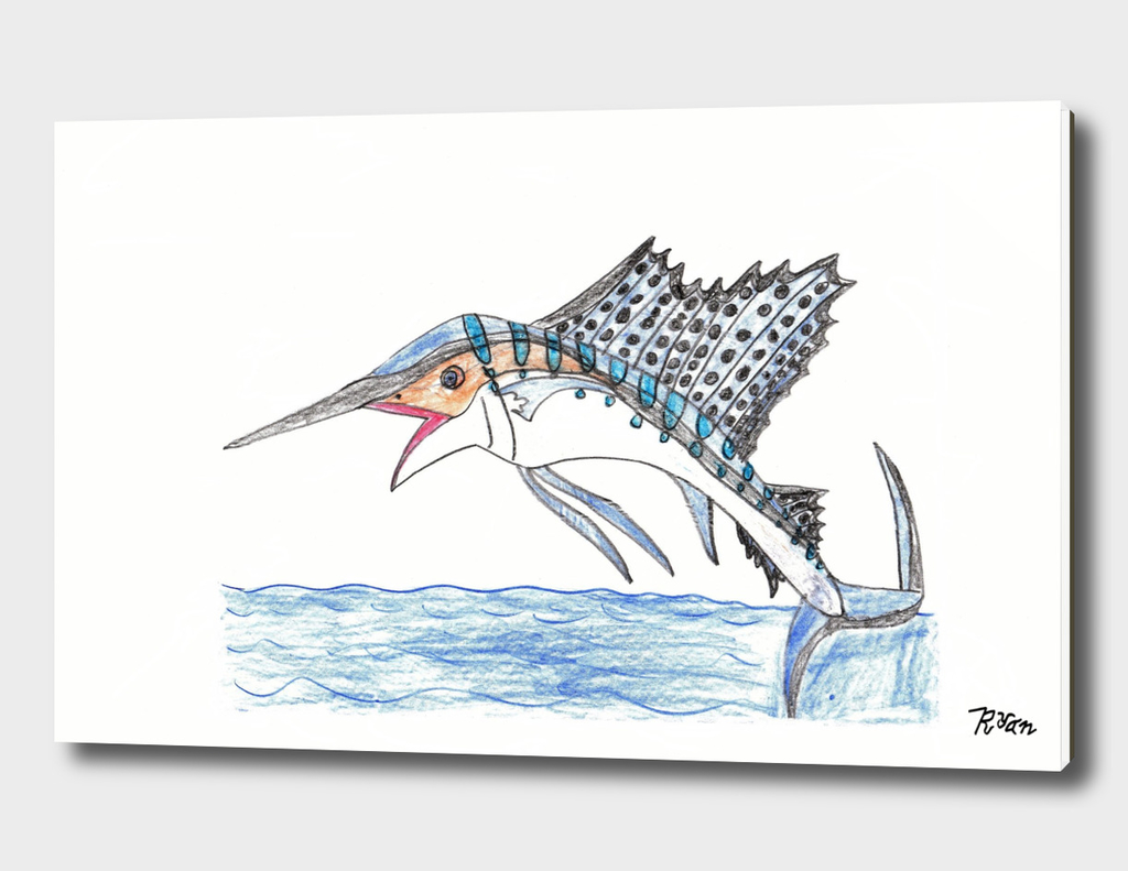 Breaching Sailfish