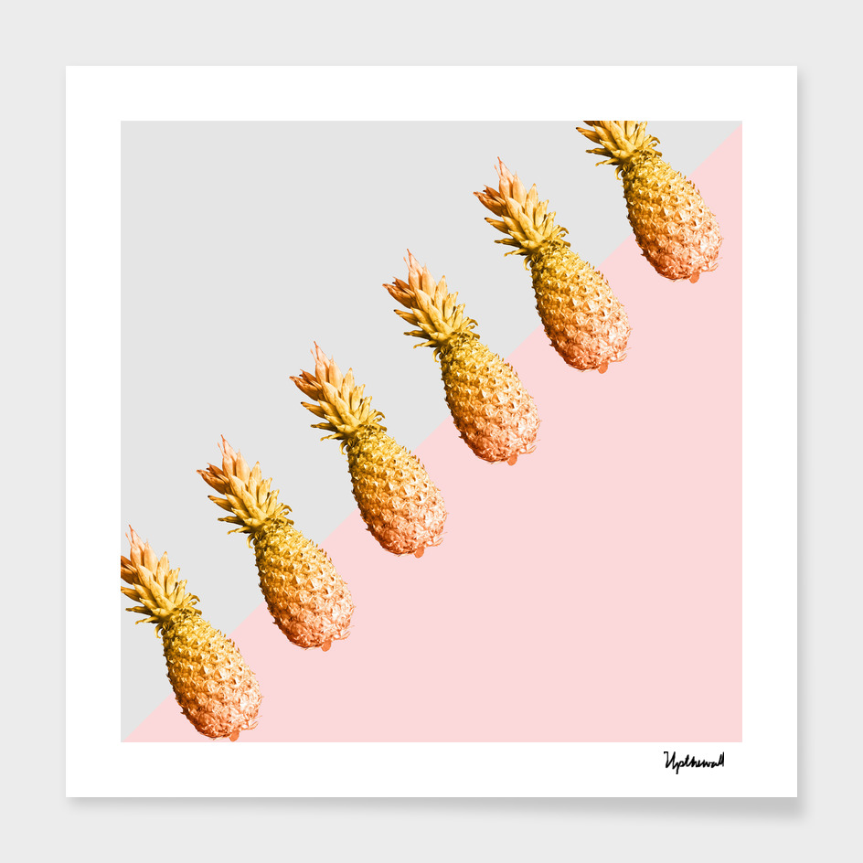 Pineapples All Lined Up