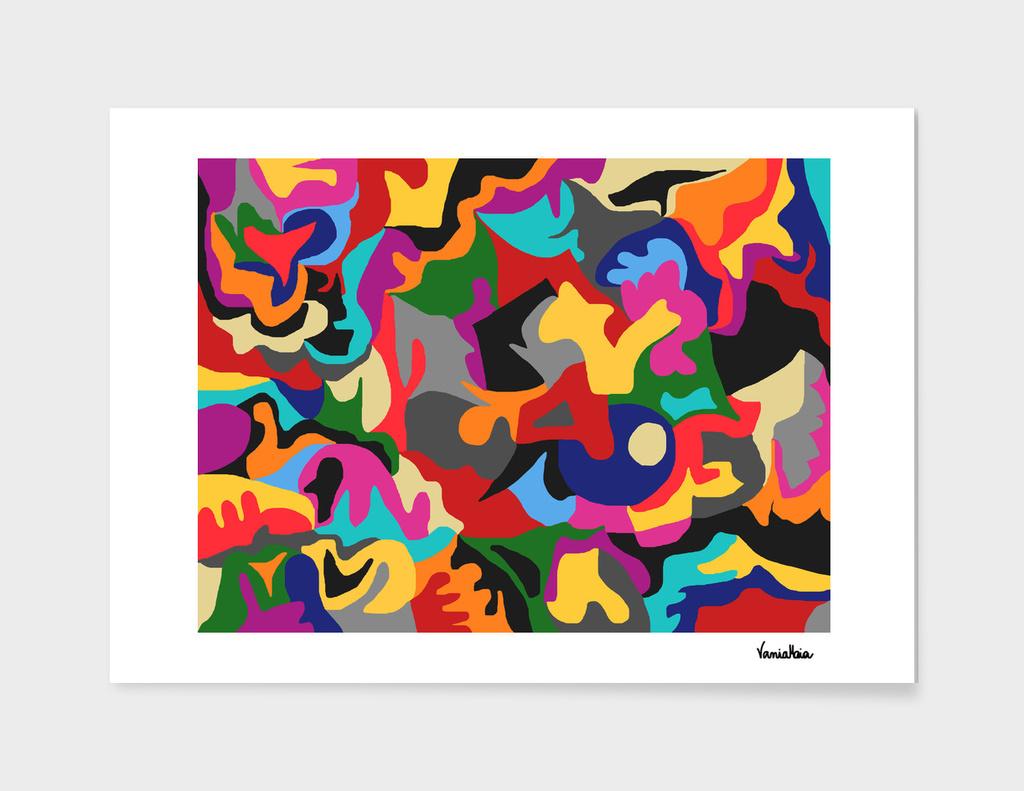 Unconscious colorful