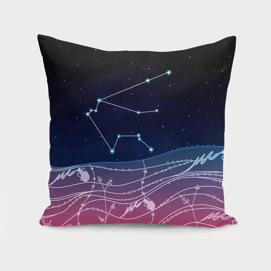 Aquarius Zodiac Constellation Design