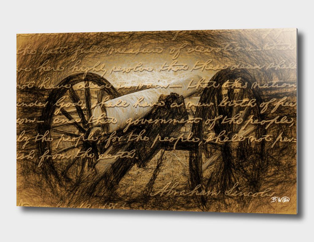 Gettysburg Address Cannon